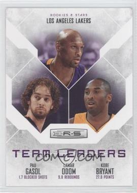 2010-11 Panini Rookies & Stars - Team Leaders #13 - Kobe Bryant, Pau Gasol, Lamar Odom