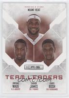 Chris Bosh, Dwyane Wade, LeBron James