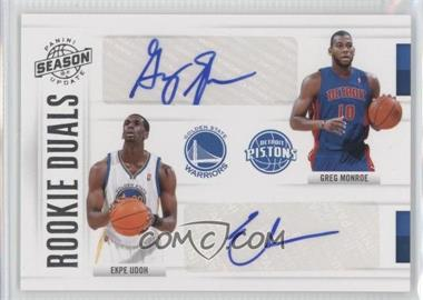 2010-11 Panini Season Update - Rookie Duals Signatures - [Autographed] #13 - Ekpe Udoh, Greg Monroe /99