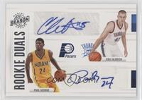 Cole Aldrich, Paul George #4/99