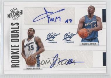 2010-11 Panini Season Update - Rookie Duals Signatures - [Autographed] #37 - Trevor Booker, Kevin Seraphin /99