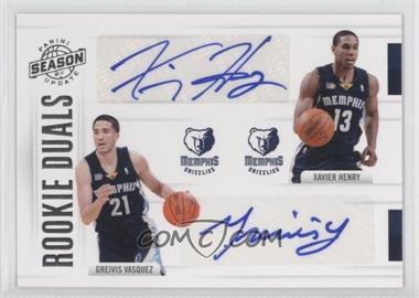 2010-11 Panini Season Update - Rookie Duals Signatures - [Autographed] #44 - Xavier Henry, Greivis Vasquez /99