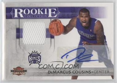 2010-11 Panini Threads - Rookie Collection Materials - Autograph [Autographed] #5 - DeMarcus Cousins /50