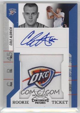 2010-11 Playoff Contenders Patches - [Base] #111 - Rookie Ticket Autograph - Cole Aldrich