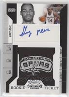 Rookie Ticket Autograph - Gary Neal [EX to NM]