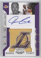 Rookie Ticket Autograph - Derrick Caracter