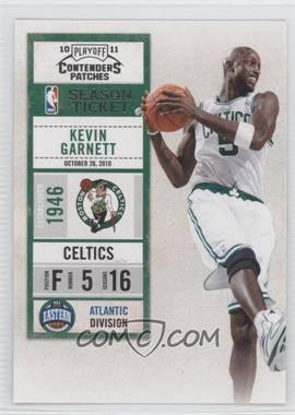 2010-11 Playoff Contenders Patches - [Base] #55 - Kevin Garnett