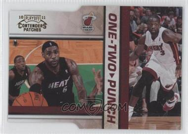 2010-11 Playoff Contenders Patches - One-Two Punch - Gold Die-Cut #10 - Lebron James, Dwyane Wade /99
