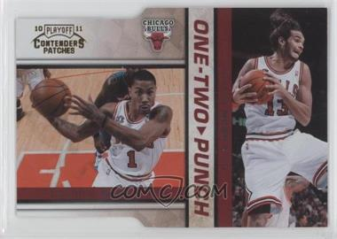 2010-11 Playoff Contenders Patches - One-Two Punch - Gold Die-Cut #4 - Derrick Rose, Joakim Noah /99