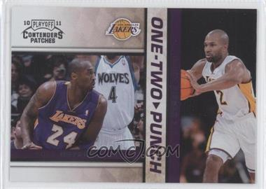 2010-11 Playoff Contenders Patches - One-Two Punch #24 - Kobe Bryant, Derek Fisher