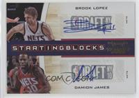 Brook Lopez, Damion James /49