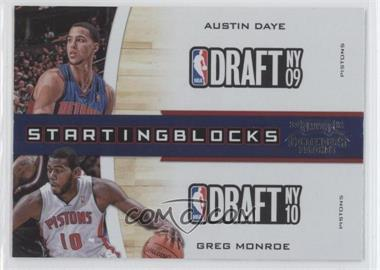 2010-11 Playoff Contenders Patches - Starting Blocks #5 - Austin Daye, Greg Monroe