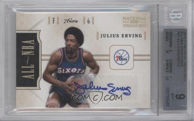 2010-11 Playoff National Treasures - All-NBA - Signatures [Autographed] #20 - Julius Erving /10 [BGS 9]