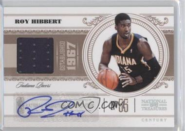 2010-11 Playoff National Treasures - [Base] - Century Materials Signatures [Autographed] [Memorabilia] #37 - Roy Hibbert /99