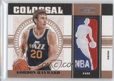 2010-11 Playoff National Treasures - Colossal Materials - NBA Logoman #28 - Gordon Hayward /5