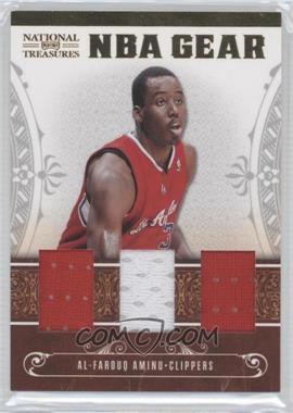 2010-11 Playoff National Treasures - NBA Gear Materials - Trios #18 - Al-Farouq Aminu /99