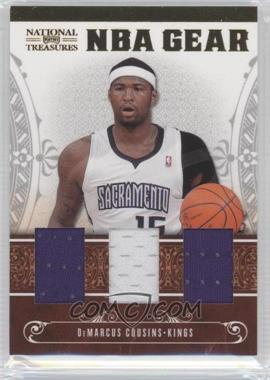 2010-11 Playoff National Treasures - NBA Gear Materials - Trios #8 - DeMarcus Cousins /99