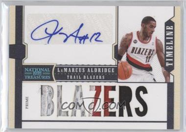 2010-11 Playoff National Treasures - Timeline - Team Nickname Signatures Prime [Autographed] #25 - LaMarcus Aldridge /15
