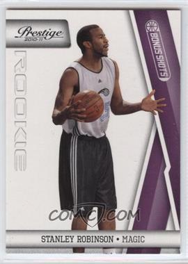 2010-11 Prestige - [Base] - Bonus Shots Purple #209 - Stanley Robinson /49