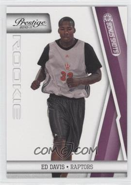 2010-11 Prestige - [Base] - Bonus Shots Purple #223 - Ed Davis /49