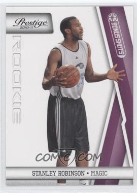 2010-11 Prestige - [Base] - Bonus Shots Purple #245 - Stanley Robinson /49