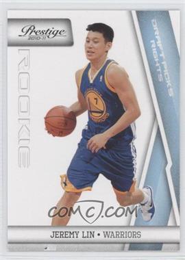 2010-11 Prestige - [Base] - Draft Picks Rights Light Blue #187 - Jeremy Lin /999