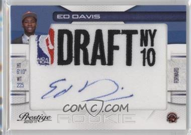 2010-11 Prestige - NBA Draft Class - Draft Logo Patch Autographs [Autographed] #13 - Ed Davis /299