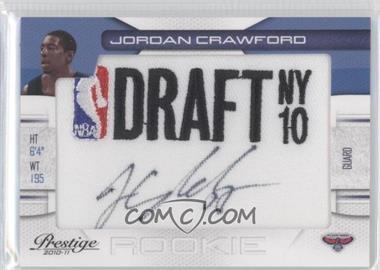2010-11 Prestige - NBA Draft Class - Draft Logo Patch Autographs [Autographed] #27 - Jordan Crawford /499