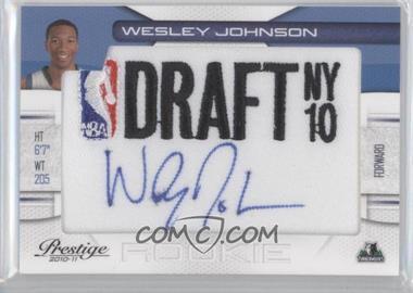 2010-11 Prestige - NBA Draft Class - Draft Logo Patch Autographs [Autographed] #4 - Wesley Johnson /299