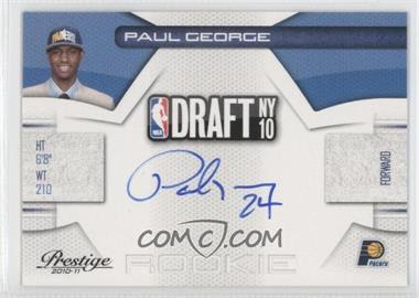 2010-11 Prestige - NBA Draft Class - Signatures [Autographed] #10 - Paul George /299