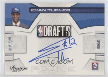 2010-11 Prestige - NBA Draft Class - Signatures [Autographed] #2 - Evan Turner /299