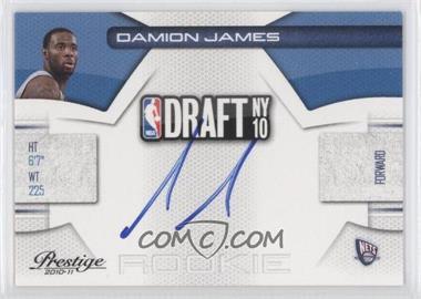 2010-11 Prestige - NBA Draft Class - Signatures [Autographed] #24 - Damion James /299