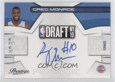 2010-11 Prestige - NBA Draft Class - Signatures [Autographed] #7 - Greg Monroe /299