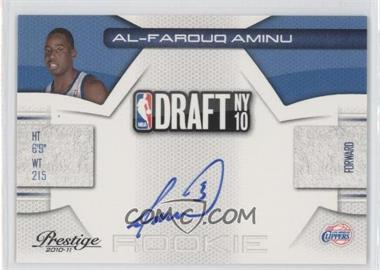 2010-11 Prestige - NBA Draft Class - Signatures [Autographed] #8 - Al-Farouq Aminu /296