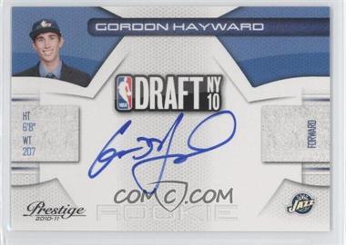 2010-11 Prestige - NBA Draft Class - Signatures [Autographed] #9 - Gordon Hayward /299