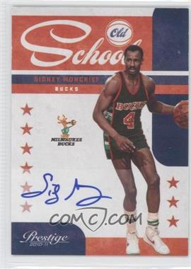 2010-11 Prestige - Old School - Signatures [Autographed] #14 - Sidney Moncrief /49