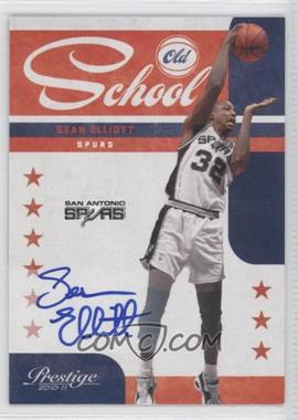 2010-11 Prestige - Old School - Signatures [Autographed] #18 - Sean Elliott /49