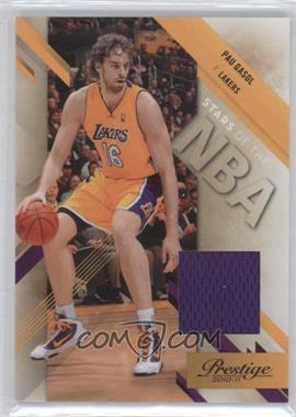 2010-11 Prestige - Stars of the NBA - Materials [Memorabilia] #13 - Pau Gasol /249