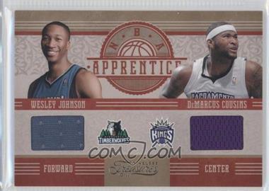 2010-11 Timeless Treasures - NBA Apprentice Materials - Dual #5 - DeMarcus Cousins, Wesley Johnson /99
