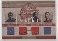 John Wall, Evan Turner, Wesley Johnson, Derrick Favors #/99