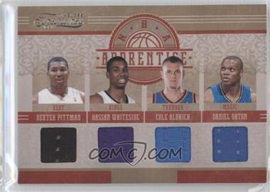 2010-11 Timeless Treasures - NBA Apprentice Materials - Quad #5 - Dexter Pittman, Hassan Whiteside, Cole Aldrich, Daniel Orton /99