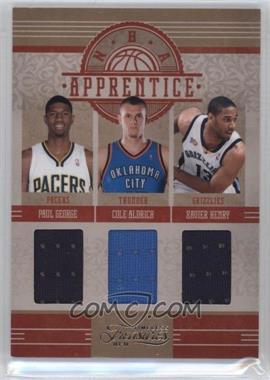 2010-11 Timeless Treasures - NBA Apprentice Materials - Triple #4 - Paul George, Cole Aldrich, Xavier Henry /99