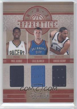 2010-11 Timeless Treasures - NBA Apprentice Materials - Triple #4 - Paul George, Cole Aldrich, Xavier Henry /99