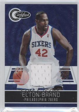 2010-11 Totally Certified - [Base] - Totally Blue Materials [Memorabilia] #2 - Elton Brand /99