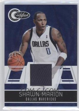 2010-11 Totally Certified - [Base] - Totally Blue Materials [Memorabilia] #82 - Shawn Marion /99