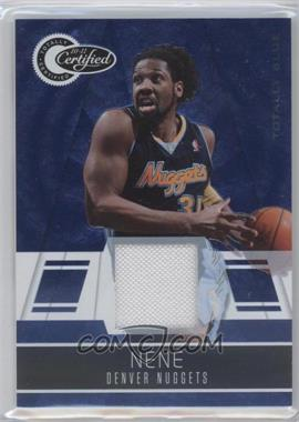 2010-11 Totally Certified - [Base] - Totally Blue Materials [Memorabilia] #91 - Nenê /99