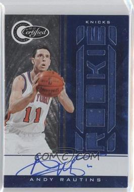 2010-11 Totally Certified - [Base] - Totally Blue Rookie Autographs [Autographed] [Memorabilia] #185 - Andy Rautins /49
