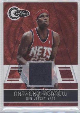 2010-11 Totally Certified - [Base] - Totally Red Materials [Memorabilia] #88 - Anthony Morrow /249