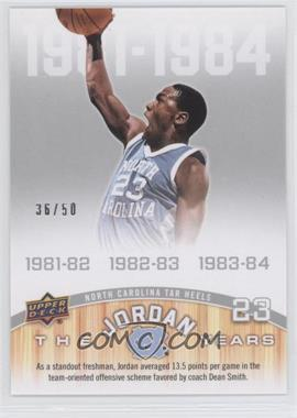 2010-11 UD North Carolina Basketball - [Base] - Blue & Silver #167 - Michael Jordan /50