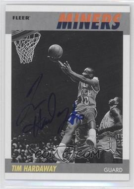 2011-12 Fleer Retro - 1987-88 Design - Autographs [Autographed] #87-TH - Tim Hardaway